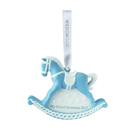 Wedgwood 2017 Baby's 1st Rocking Horse Christmas collection, Blue (Baby Gifts Wedgwood)