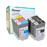 Aomya Compatible Ink Cartridge Replacement for Canon PFI-102(2MBK, BK, C, M, Y) 6 Pack