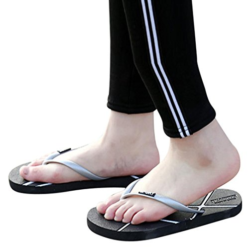 IGEMY Unisex Men's Summer Women's Flip-Flops Slippers Beach Sandals Leisure Shoes Gray u5kjMTR