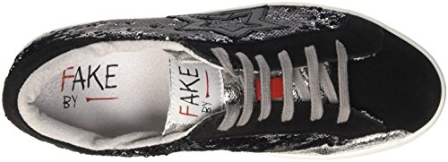 Fake By Chiodo Low F 867, Unisex Adults' Flatform Pumps Black (Nero/ Platino)