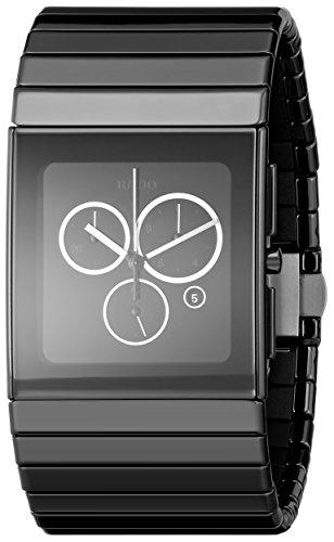 Rado Men's R21714152 Ceramica Black Dial Ceramic Chronograph Watch ()