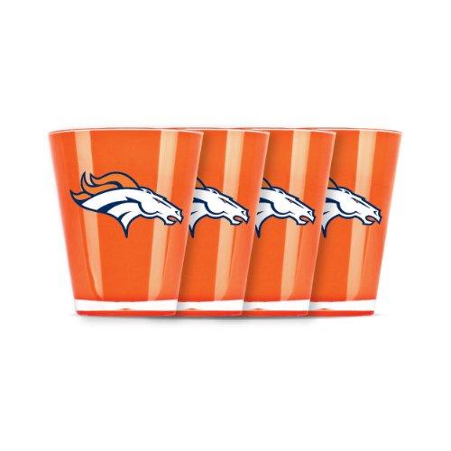 NFL Denver Broncos Shot Glass Set (4-Piece) (Fan Glass Sports Shot)