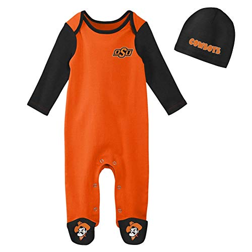 Outerstuff Infant Oklahoma State University Bodysuit Set Baby Sleeper & Hat (0-3 M)