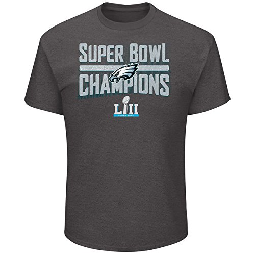 Philadelphia Eagles 2018 Super Bowl Champions Sudden Impact Pro Line Mens Charcoal Grey Short Sleeve Champions T-Shirt NFL AUTHENTIC – DiZiSports Store