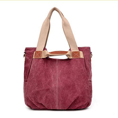 a Mzdpp a Vintagecrossbody Grande Canvas qualità di Borsa donna alta borse tracolla Viola Borse Messenger tracolla ra4EqW4xwF