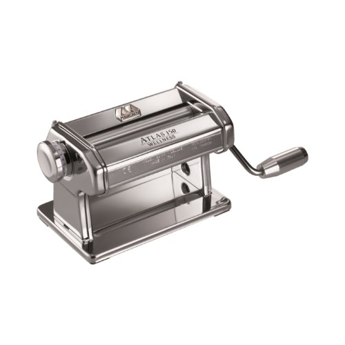Marcato Atlas Pasta Dough and Clay Roller, 8340, Made in Italy, Includes 150-Millimeter Roller with Hand Crank and Instructions (Clay Maker)