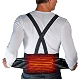 Heated Lumbar Support Belt Venture Heat Cordless Infrared Heated Back Brace with Battery 5 Hour - Industrial Work Brace Lifting Belt Heat Therapy for Back Pain, Herniated Disc
