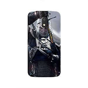 Cover It Up - Silver Witcher blade Moto E3 Hard Case
