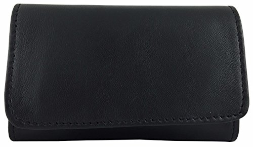Pouch Lambskin Black (Jobey Black Lambskin Roll Up Pipe Tobacco Pouch with Surgical Rubber Lining)