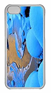 iPhone 5C Case, Personalized Custom Winter Scenery 4 for iPhone 5C PC Clear Case