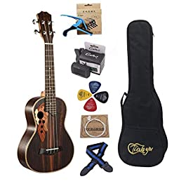 23-inch Hawaii Concert Ukulele Rosewood Concert Ukelele send Tuner Gig Bag Full set of Ukele Accessories