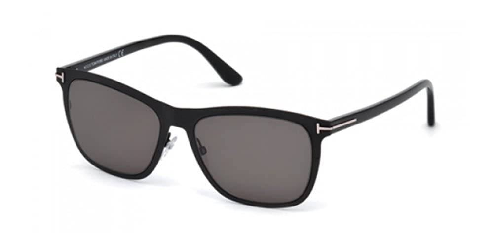 3d995ce3cc4 Amazon.com  Tom Ford FT0526 02A Matte Black FT0526 Oval Sunglasses Lens  Category 3 Size 55m  Tom Ford  Clothing