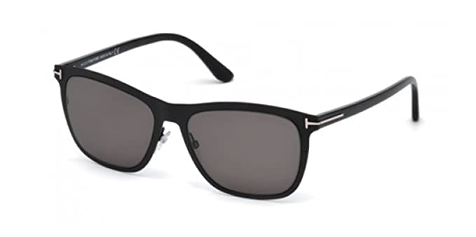 b606cd694935 Amazon.com  Tom Ford FT0526 02A Matte Black FT0526 Oval Sunglasses ...