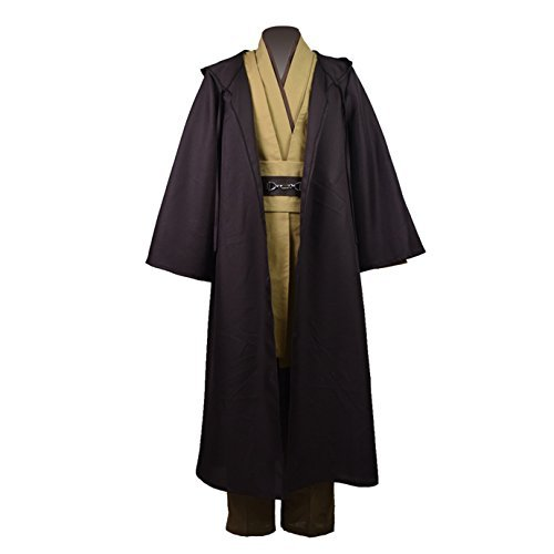 Cosparts®Obi-Wan Classic Cosplay Robe Tunic Costume (US Size Man Medium) (Costumes Jedi)