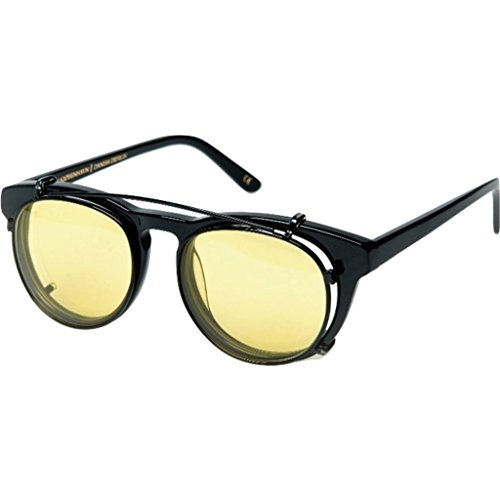 Han Kjobenhavn Timeless Clip-On Sunglasses – Black/Yellow Lenses
