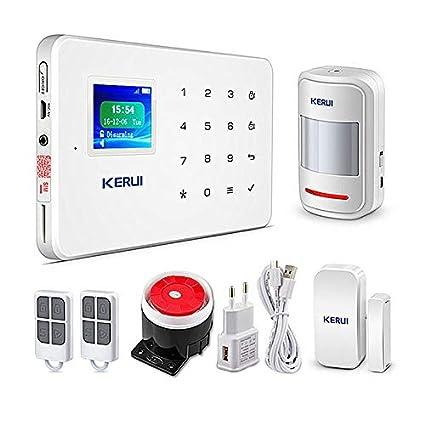 KERUI - Alarma Inalámbrica gsm SMS 433MHz Seguridad ...