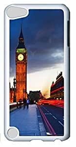 Fashion Customized Case for iPod Touch 5 Cool White Plastic Case Back Cover for iPod Touch 5th with Big Ben