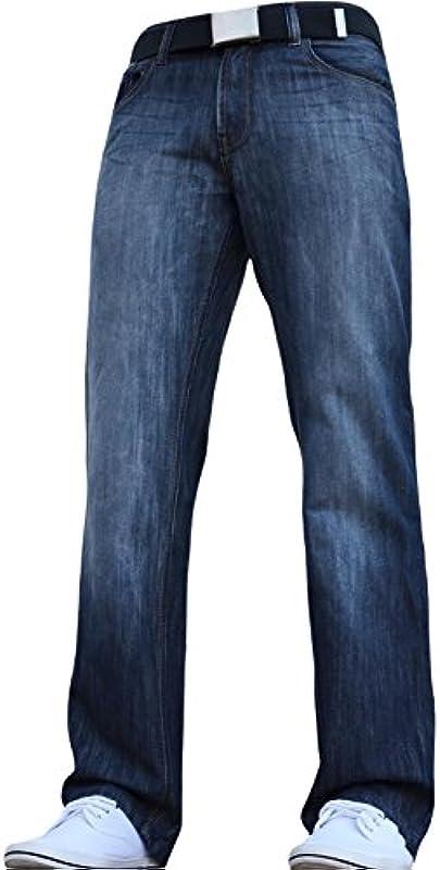Zico nowe stylowe dżinsy Regular Fit, Arrested Developement, klasyczne proste nogawki od JEANBASE. Wszystkie talia i rozmiary z bezpłatnym paskiem.: Odzież