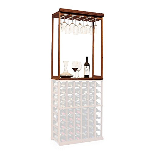 N'FINITY Wine Rack Kit - Stemware & Tabletop - Dark Walnut - Solid Mahogany by N'FINITY