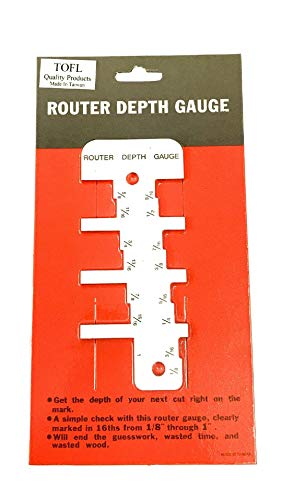 TOFL Router Depth-Height Gauge | Step Depth and Height Gauge Tool for Woodworking Projects | Helps Make Your Router Set Up Fast and Easy | Get Accurate Cuts (Router Depth Gauge) (Best Router Table Setup)