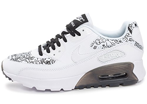 newest 22b4a 5ac5a Nike Damen W Air Max 90 Ultra Print Turnschuhe Weiß (White   White-Black