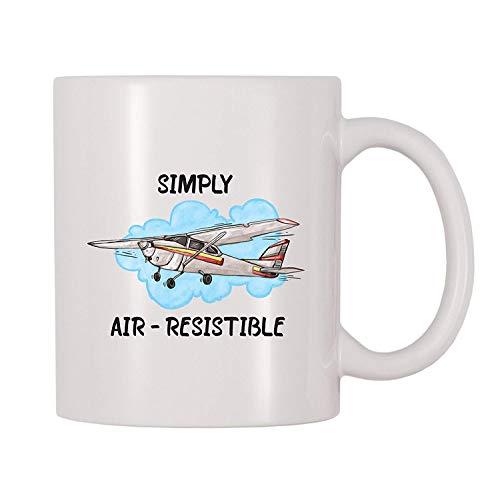 4 All Times Simply Air-Resistable Airplane Coffee Mug (11 oz)