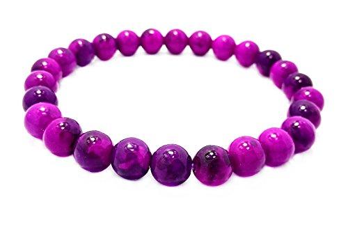Buddha Bead Gem Bracelet (Wondyous 8mm Sugilite bead Stretch Bead Bracelet,Active Spirit Energy Increase Healing Energy Action)