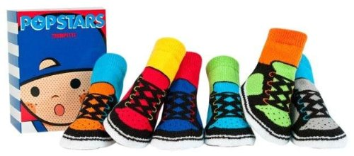 Trumpette Baby-boys Newborn Pop Stars Socks 6-Pack, Multi, 0-12 Months Small