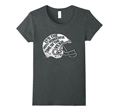 Wonderful Time of The Year Football Shirt XL Dark Heather (Time Football Jersey)
