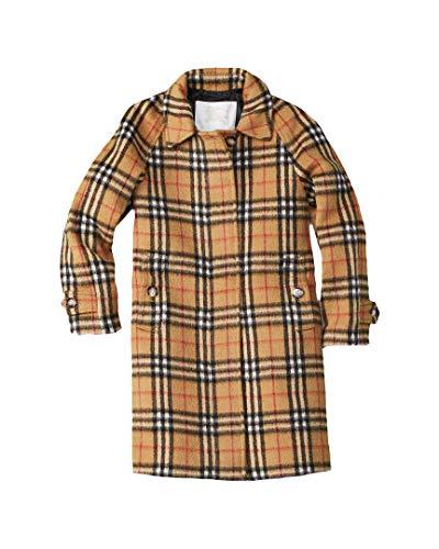 BURBERRY Girls Mini Hepworth Wool Coat, 10Y, Yellow