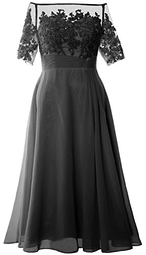 Women Gown Evening Of Gray Shoulder Tea Mother Dress Bride Length Off Formal Macloth gwZdUgq