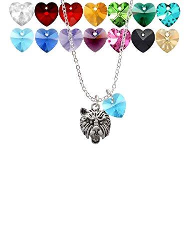 Small Bear - Mascot Custom Crystal Heart Sophia Necklace, 18