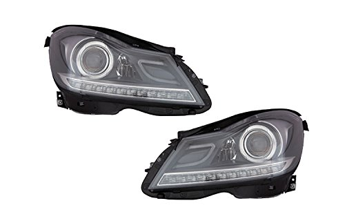 Performance Depo Driver and Passenger Side Headlight for Mercedes-benz 12-14 C250 12-14 C350 12-14 C200 12-14 C300 12-14 C180 12-14 C63 Amg MB2505110