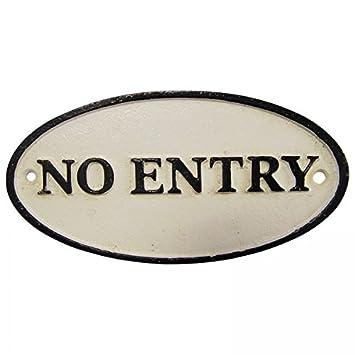 Ellas-Wohnwelt - Cartel de Prohibido el Acceso a Puertas ...