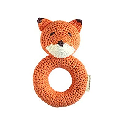 Cheengoo Organic Crocheted Fox Ring Rattle: Toys & Games