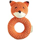 Cheengoo Organic Crocheted Fox Ring Rattle