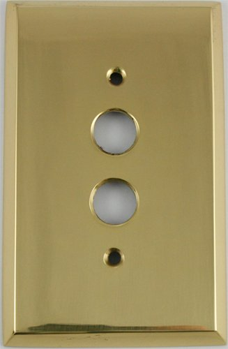 Classic Accents Polished Brass Single Gang Push Button Switchplate