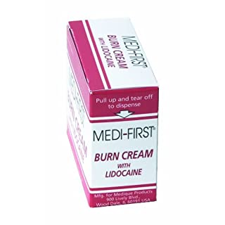 Medique MP26073  Products Burn Cream With Lidocaine, 0.9 Grams, 25 Packets
