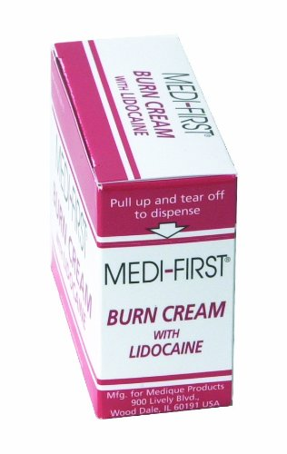 Medique MP26073 Products Burn Cream With Lidocaine, 0.9 Grams, 25 Packets - Lidocaine Burn Relief