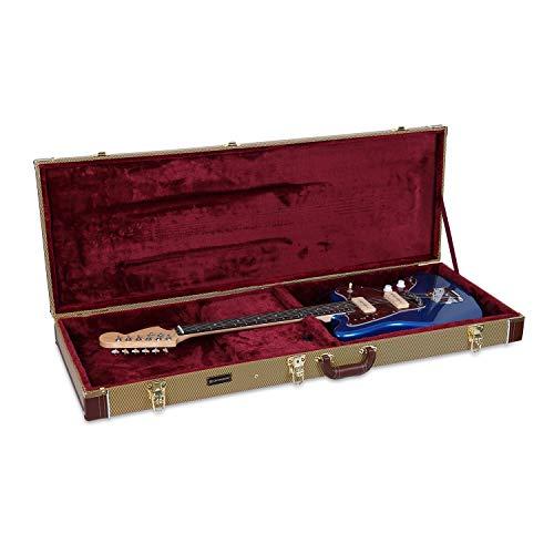 (Crossrock Deluxe Hardshell Wooden Case for Jazzmaster/Jaguar Style Electric Guitars, Tweed(CRW600JMTW))