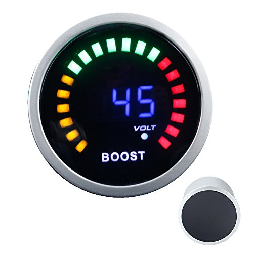 """2/"""" 52mm Car Turbo Boost Gauge Meter With Sensor 12V Blue LED Digital 1~3 Bar"""