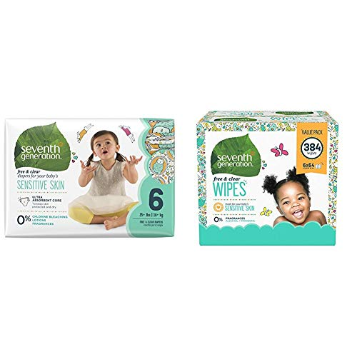 Seventh Generation Size 6 Baby Bundle and Save - 80 Diapers