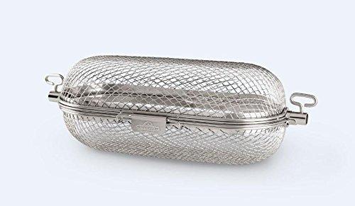 Gas Stainless Steel Rotisserie (Napoleon Gas Grill Round Rotisserie Stainless Steel Grill Basket 64000)