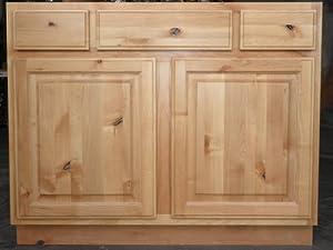 Knotty Alder Vanity Sink Drawer Base Kitchen Dining