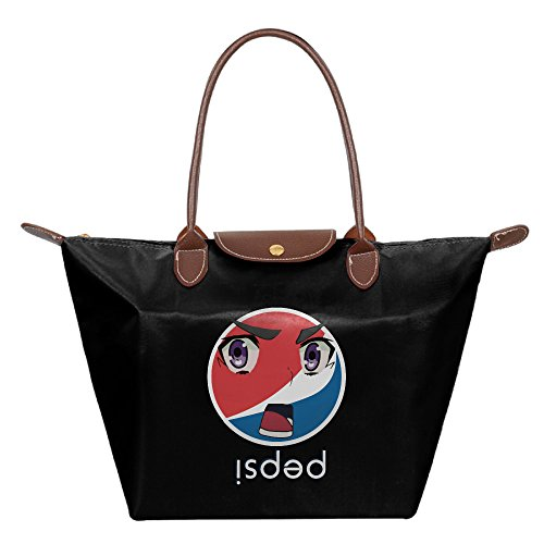 i-think-its-safe-to-say-he-pepsi-foldable-shopping-bags-large-tote-handbags-black