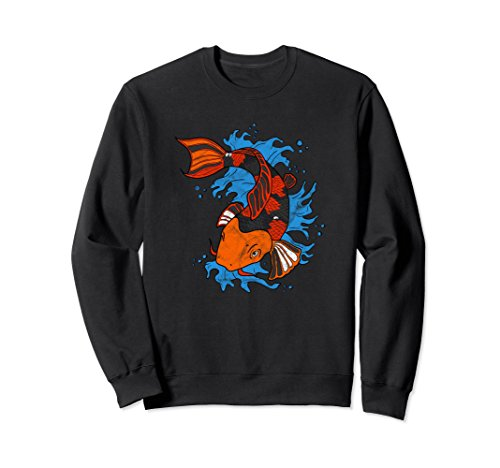 Unisex Koi Fish Hobbyist Gift Sweatshirt Large Black (Fish Sweatshirt Adult)