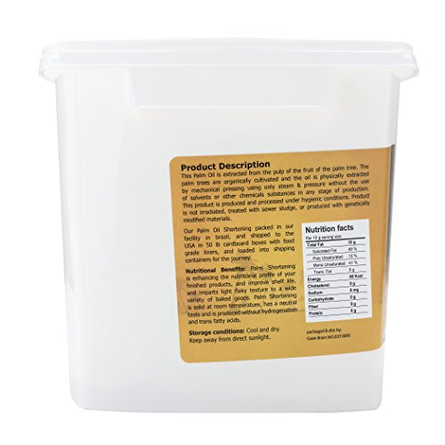 Grain Brain Organic Palm Shortening (3 lb) Non-Hydrogenated Pure and Natural, Super, Sustainable Certified by GRAIN BRAIN (Image #1)