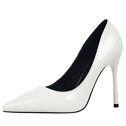 Mouth Pumps Toe Shallow White Stiletto High Heel Binying Pointed Women's 8nIqwxAW4O