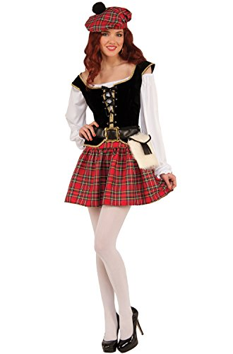 Forum Women's Saucy Scotty Girl Costume, As Shown, (Scottish Costumes For Women)