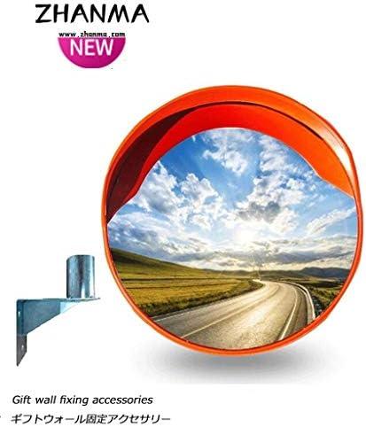 カーブミラー 屋外乗った交通セキュリティミラーPCプラスチックオレンジ30センチメートル45センチメートル60センチメートル75センチメートル80センチメートル100センチメートル120センチメートル、センド取付金具用凸面鏡監視ミラー RGJ4-18 (Size : 450mm)